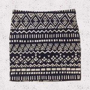 Forever XXI Aztec Tribal Print Mini Skirt Size M